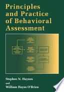 Principles And Practice Of Behavioral Assessment Book PDF