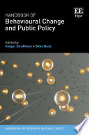 Handbook of Behavioural Change and Public Policy Book