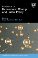 Handbook of Behavioural Change and Public Policy