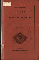 Annual Report of the School Committee and the Superintendent of Schools