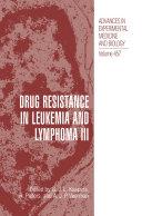 Pdf Drug Resistance in Leukemia and Lymphoma III