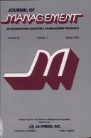 Journal Of Management  Volume 20 Number 1 Spring 1994