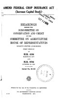 Hearings Before the Committee on Agriculture  House of Representatives  Ninety second Congress Book PDF