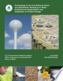 Proceedings of the First National Expert and Stakeholder Workshop on Water Infrastructure Sustainability and Adaptation to Climate Change