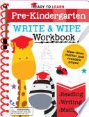 Ready to Learn  Pre Kindergarten Write and Wipe Workbook Book