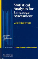 Statistical Analyses for Language Assessment Book