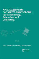 Applications of Cognitive Psychology Pdf/ePub eBook