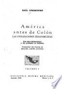 América antes de Colón