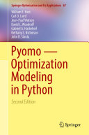 Pyomo — Optimization Modeling in Python