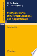 Stochastic Partial Differential Equations and Applications II