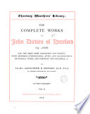 The complete works of John Davies  ed  with intr  and notes  by A B  Grosart
