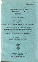 Report on Central Inland Water Transport Corporation