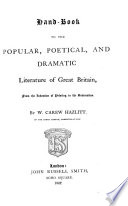 Handbook to the Popular, Poetical, and Dramatic Literature of Great Britain