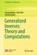 Pdf Generalized Inverses: Theory and Computations Telecharger