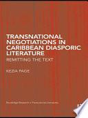 Transnational Negotiations in Caribbean Diasporic Literature