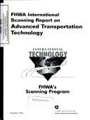 FHWA International Scanning Report on Advanced Transportation Technology
