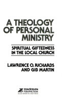 A Theology Of Personal Ministry Book