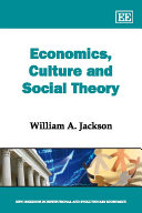 Economics, Culture and Social Theory