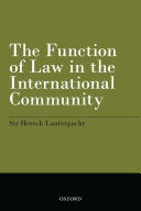 The Function of Law in the International Community [Pdf/ePub] eBook
