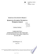 Kosovo/a Standing Technical Working Group