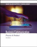 Business Communication  Process   Product Book
