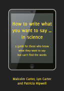 How to write what you want to say ... in science