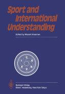 Pdf Sport and International Understanding