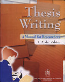 Thesis Writing  Manual For All Researchers