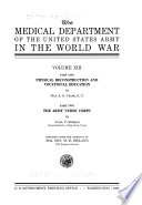 The Medical Department of the U S  Army in the World War