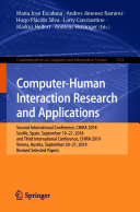 Computer Human Interaction Research and Applications