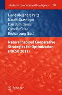 Pdf Nature Inspired Cooperative Strategies for Optimization (NICSO 2011)
