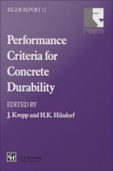 Performance Criteria for Concrete Durability
