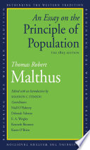 Book cover for An essay on the principle of population : the 1803 edition