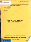 Painting and Marking of Army Aircraft