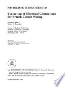 Evaluation of Electrical Connections for Branch Circuit Wiring