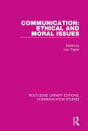 Communication: Ethical and Moral Issues [Pdf/ePub] eBook