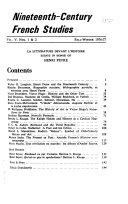 19th Century French Studies