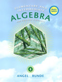 Elementary   Intermediate Algebra for College Students  Media Update Book