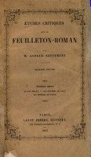 Études critiques sur le feuilleton-roman