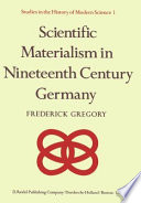 Scientific Materialism in Nineteenth Century Germany