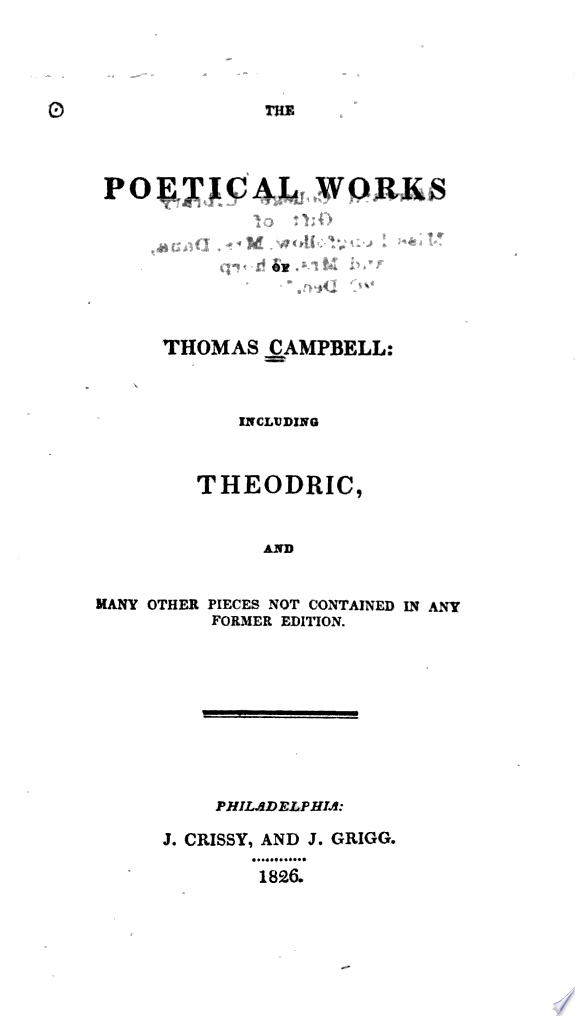 The Poetical Works of Thomas Campbe
