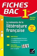 Fiches Bac Mémento de la littérature française