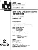 Proceedings of the National Urban Forestry Conference  November 13 16  1978  Washington  D C