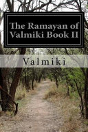 The Ramayan of Valmiki Book II