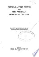 Discriminating Duties and the American Merchant Marine