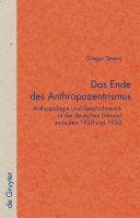 Das Ende des Anthropozentrismus