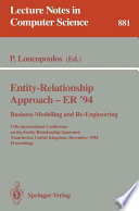 Entity Relationship Approach Er 94 Business Modelling And Re Engineering Book PDF