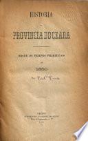 Historia da provincia do Ceará, desde os tempos primitivos até 1850