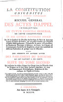 Qui renferme les Actes d'Appel du Clergé dans les Dioceses dont les Eveques ne se sont point declarés Appellans; & ceux des Communautés Ecclesiastiques, Regulieres & Monastiques de l'Eglise de France