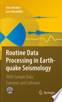 Routine Data Processing In Earthquake Seismology Book PDF